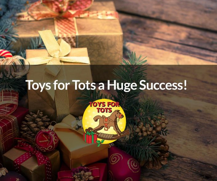 Toys for tots a huge success