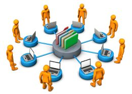 Employees and customers surrounding an organizations extranet