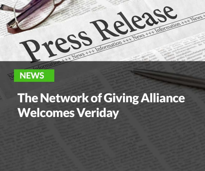 The Network of Giving Alliance Welcomes Veriday